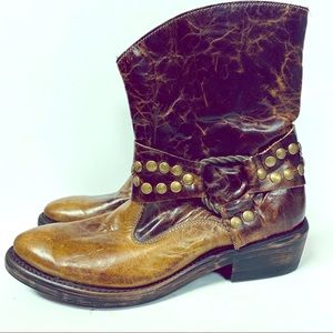 Sonora Double H Western Ankle Boot 6 like new!